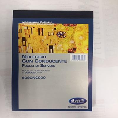 Conosciuto BLOCCO FOGLI DI SERVIZIO NCC BUFFETTI 6090NCC00 | Pianeta Cancelleria XR51